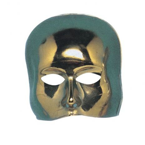 Mask Half Face Theatre Gold Stage Masquerade Players Disguise Mask